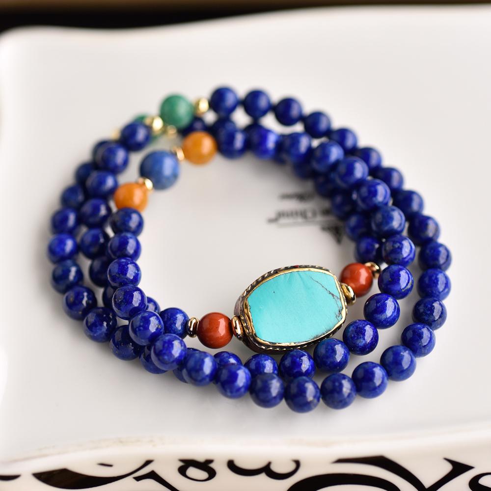 bracelet with lapis lazuli mixmetall bracelet Brass bracelet Brass bracelet mismatched bracelet moonstone bracelet